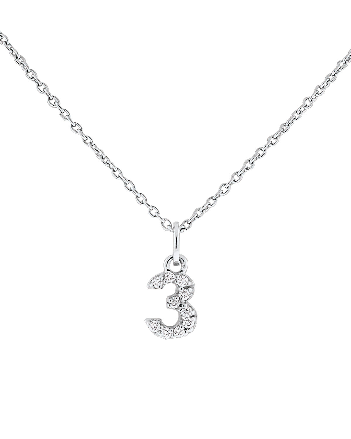 Lyst kc designs diamond number necklace in metallic gallery mozeypictures Images