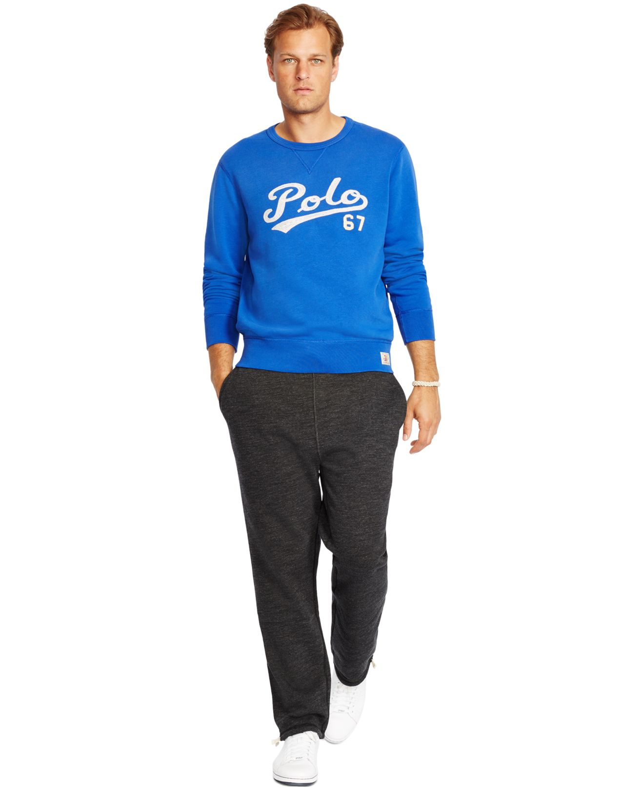 Lyst Polo Ralph Lauren Big And Tall Fleece Crewneck
