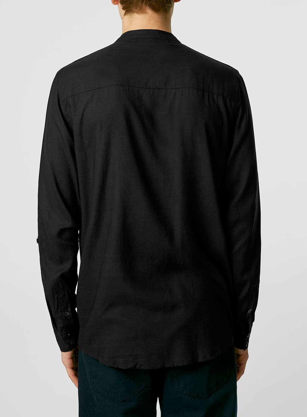 Topman Nana Judy Black Linen Shirt in Black for Men | Lyst