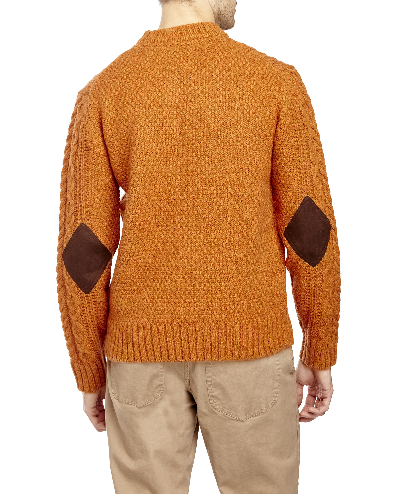 Ben sherman Chunky Cable Sweater in Orange for Men | Lyst