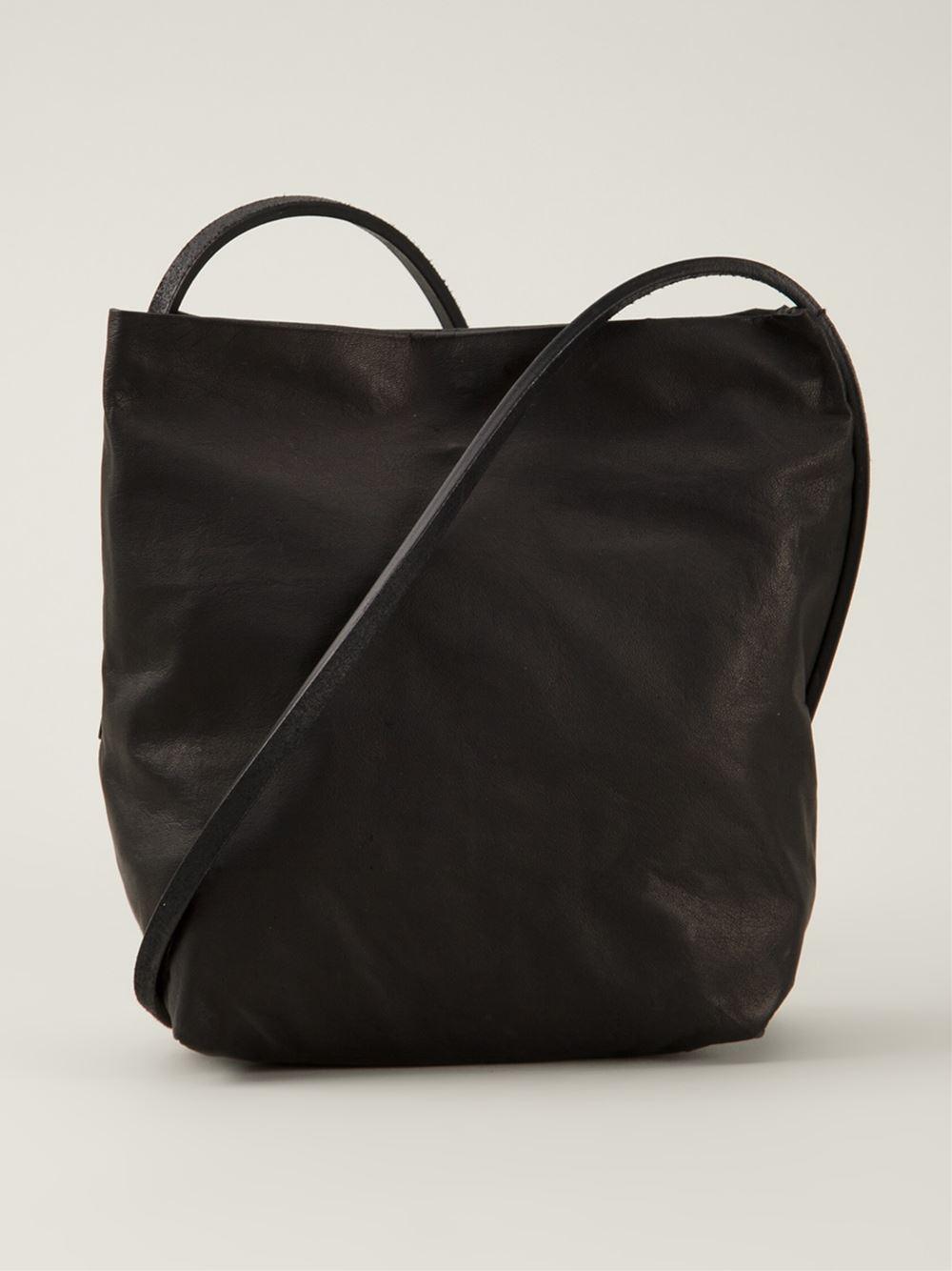 Lyst Rick Owens Adri Small Leather Shoulder Bag In Black