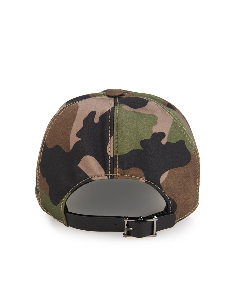 Valentino Garavani camouflage star print cap - Brown Valentino UXGVrAFstZ