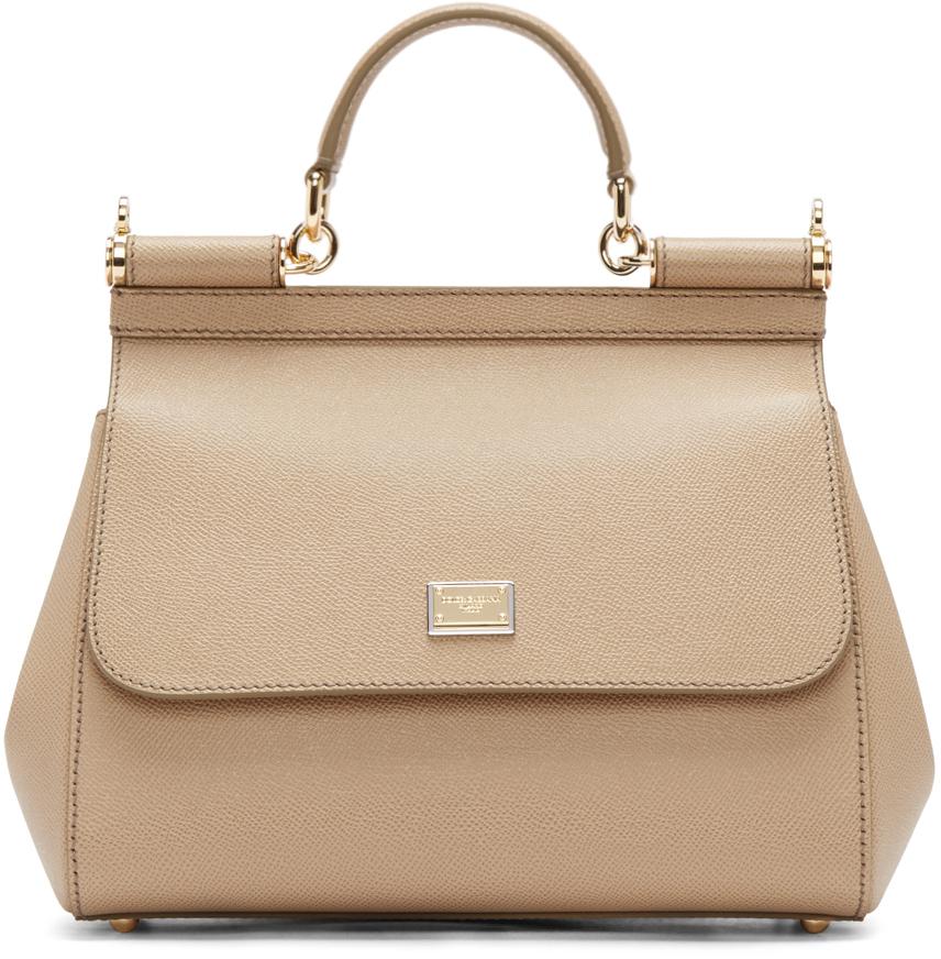 5a916f20a4a8 ... Dolce Gabbana Beige Medium Miss Sicily Bag in Natural - Lys best loved  ff7f1 0e95e ...
