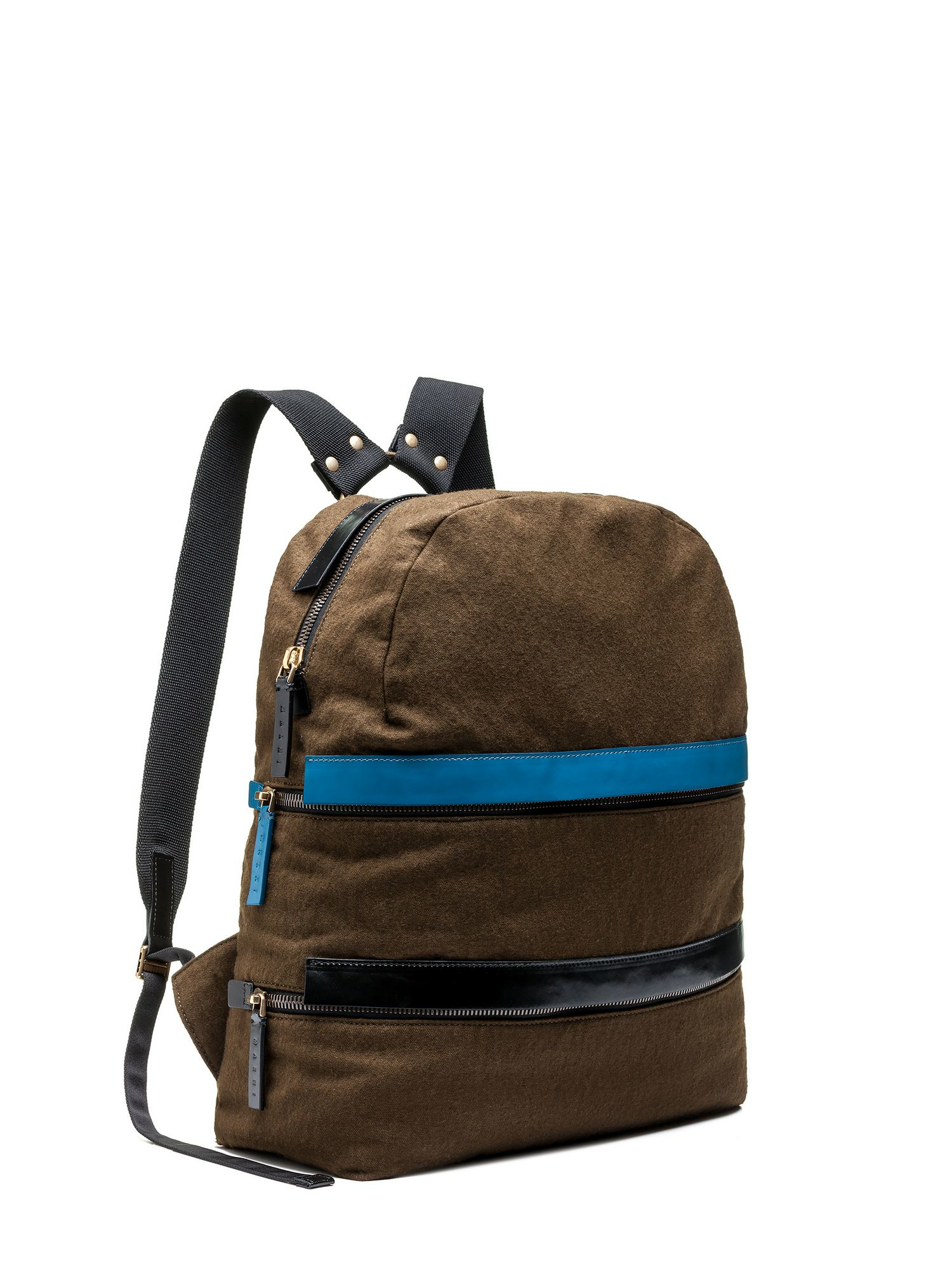 Lyst Marni Backpack In Contrasting Coloured Linen And