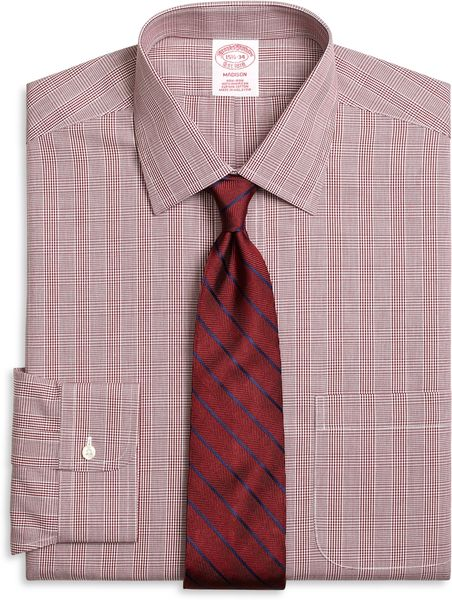 Brooks Brothers Non Iron Madison Fit Glen Plaid Dress