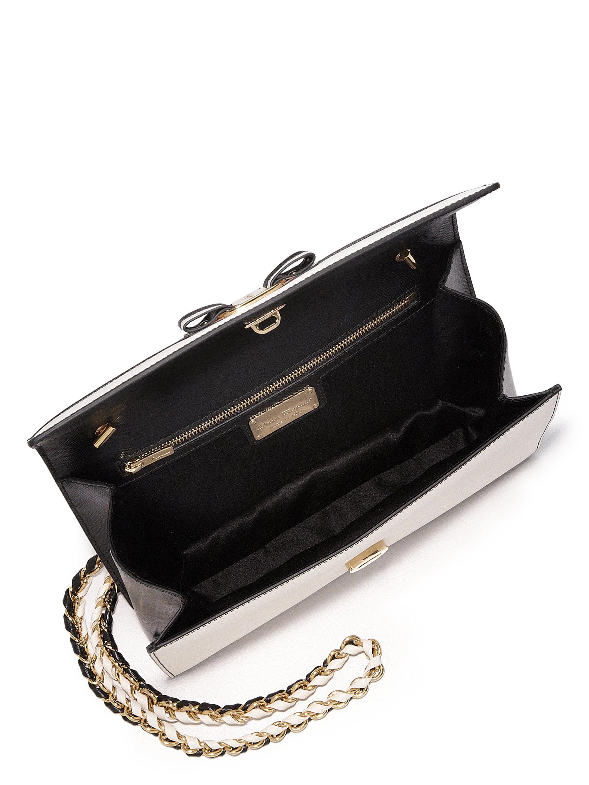 ... Crossbody Bag recognized brands b49bd fb12f  Lyst - Ferragamo Ginny  Medium Two-tone Saffiano Leather Cros wide range aac12 d9a75 ... 58fded8184