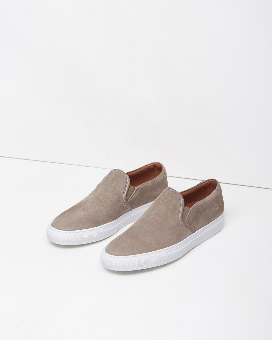 a57bf0cd6c9f Common Projects Slip-on Sneakers in Gray - Lyst