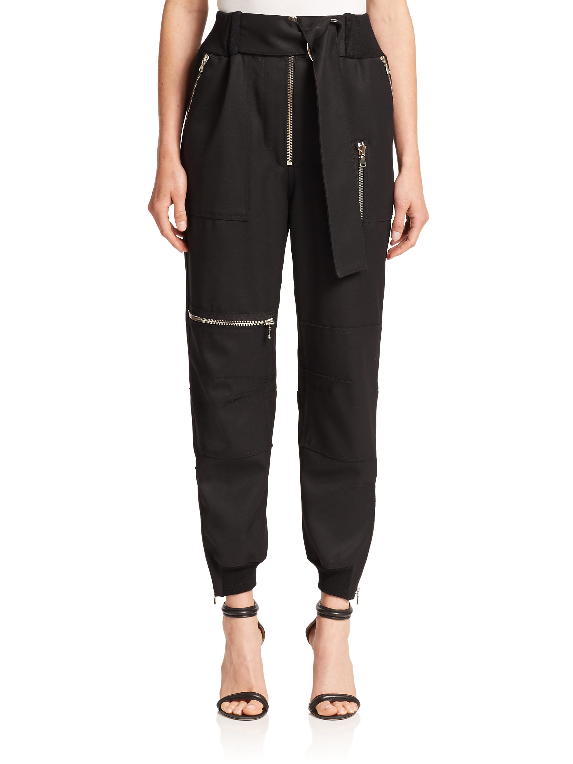 Lyst - 3.1 Phillip Lim Wool Flight Pants in Black