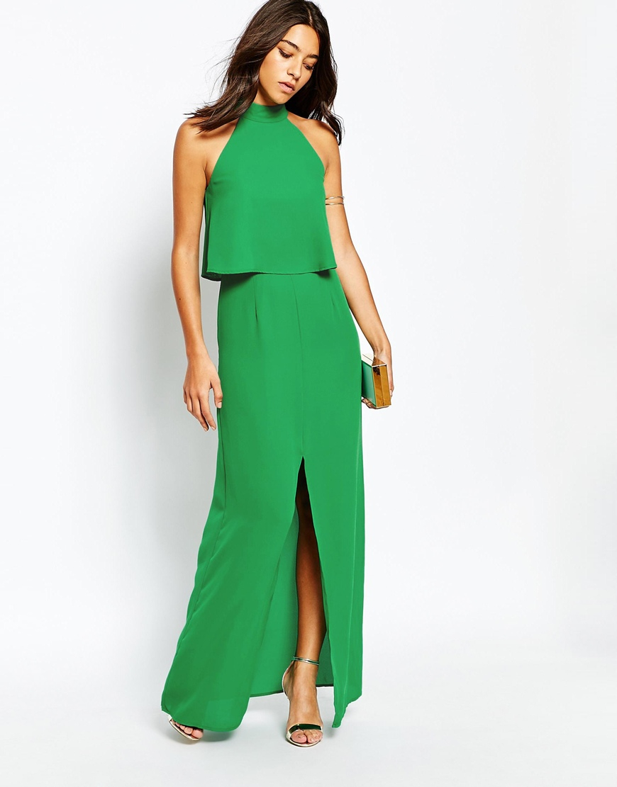 Pleated maxi dress warehouse