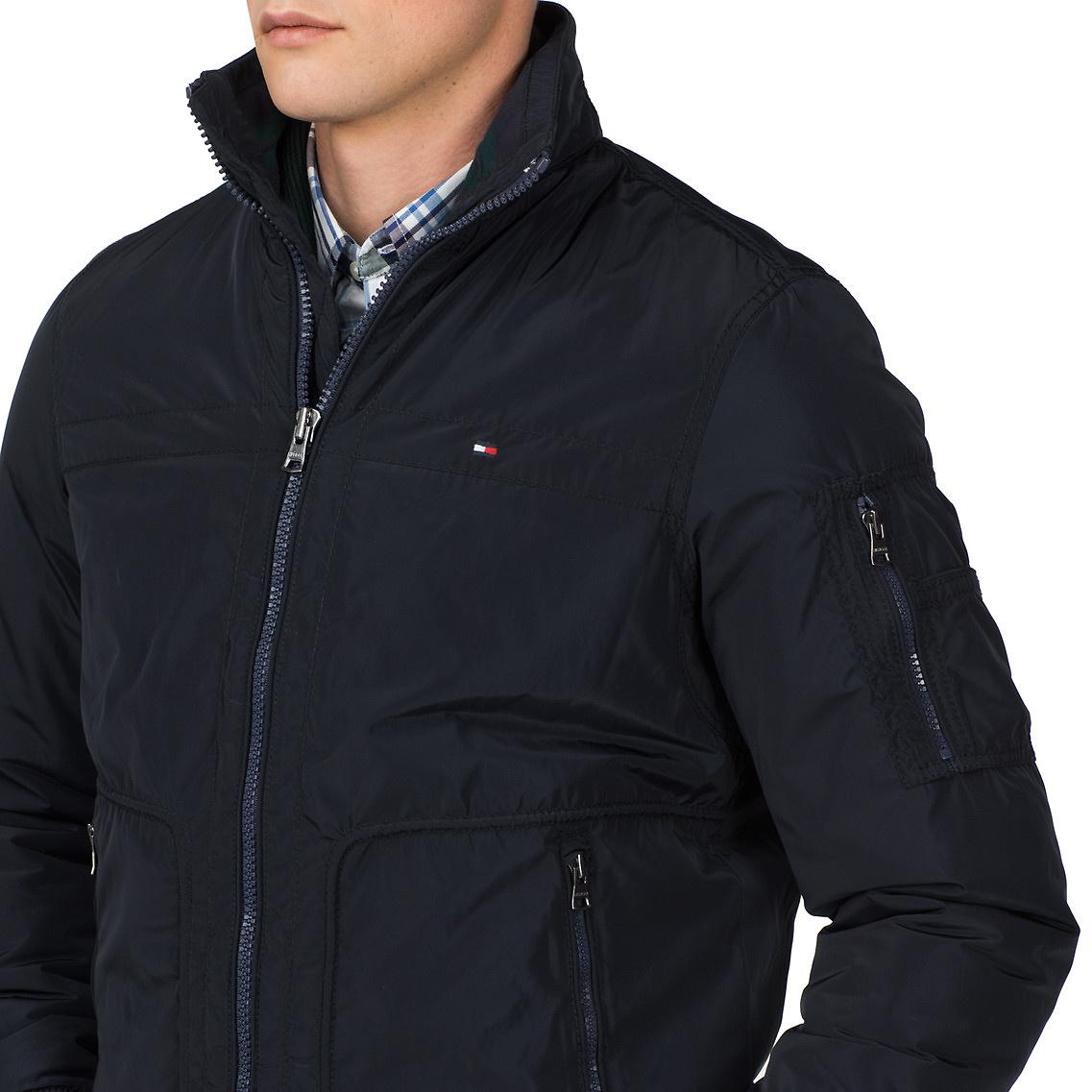 tommy hilfiger micha bomber jacket in blue for men. Black Bedroom Furniture Sets. Home Design Ideas