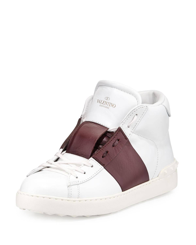 Open Rockstud low-top leather trainers Valentino kFrmq7dJ1N