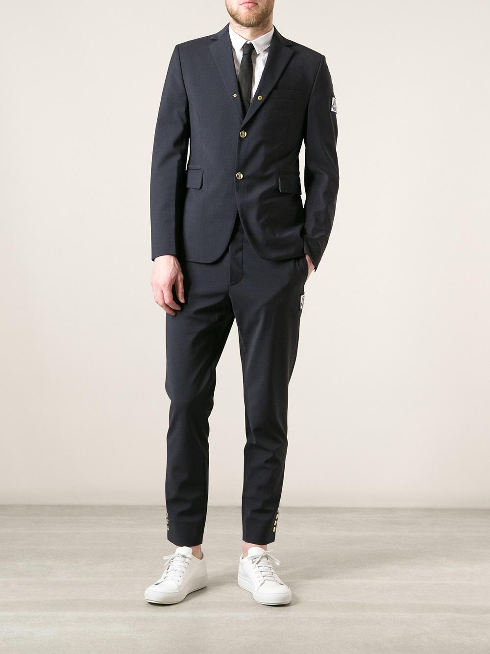 14a70d819b4b Lyst - Moncler Gamme Bleu Suit Jacket in Blue for Men