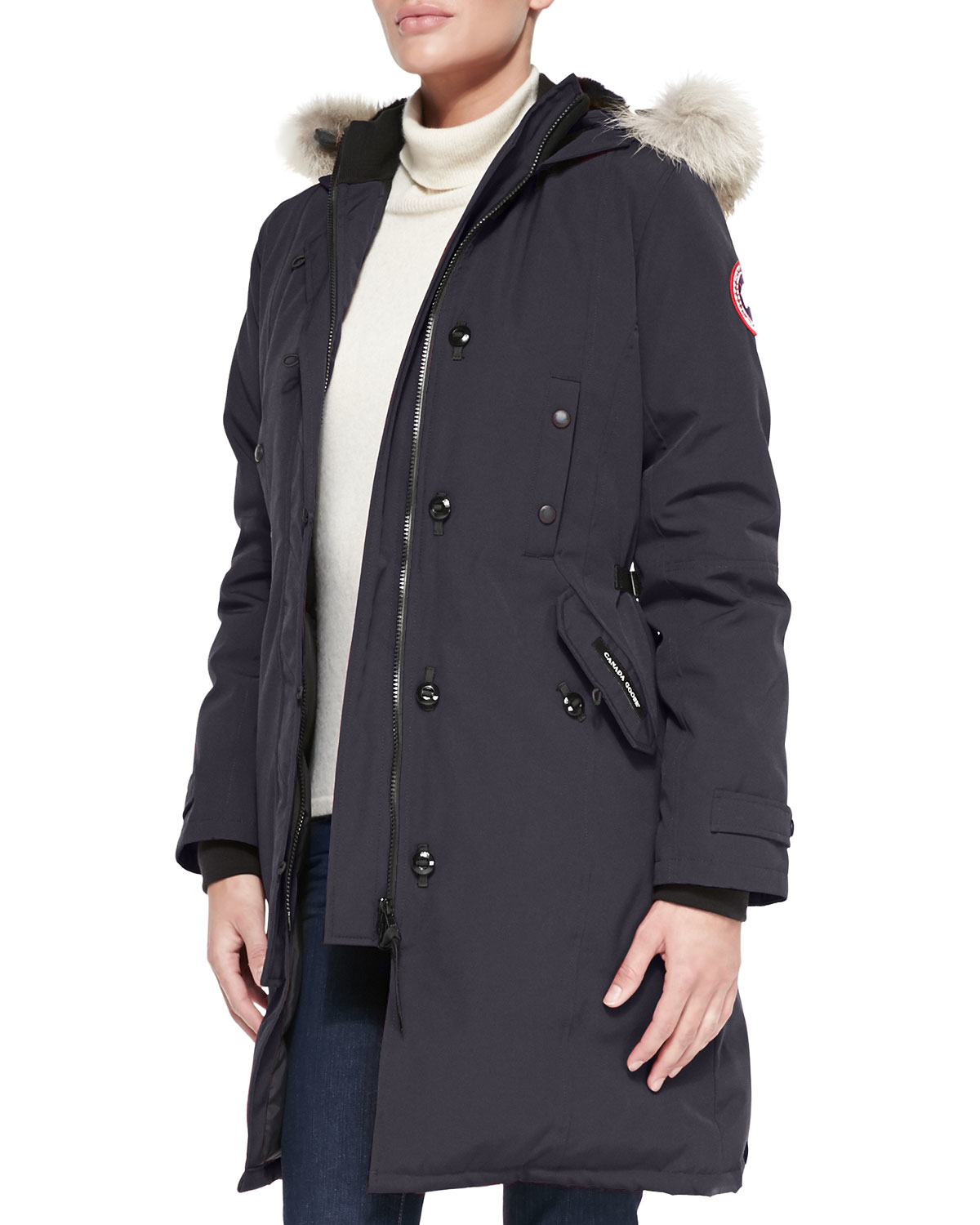 Canada Goose coats outlet cheap - Canada goose Kensington Fur-hood Parka in Blue (GRAPHITE) | Lyst