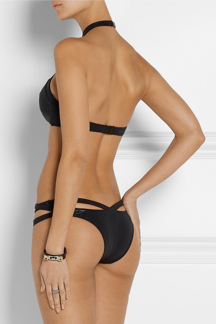 953d05ff7d Lyst - Agent Provocateur Raven Cutout Bikini Briefs in Black