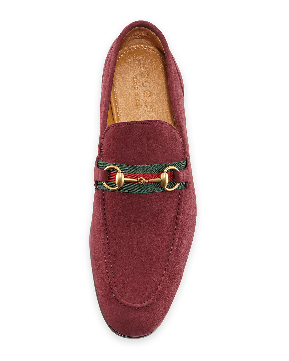 Gucci Suede Horsebit Loafer in Purple for Men - Lyst