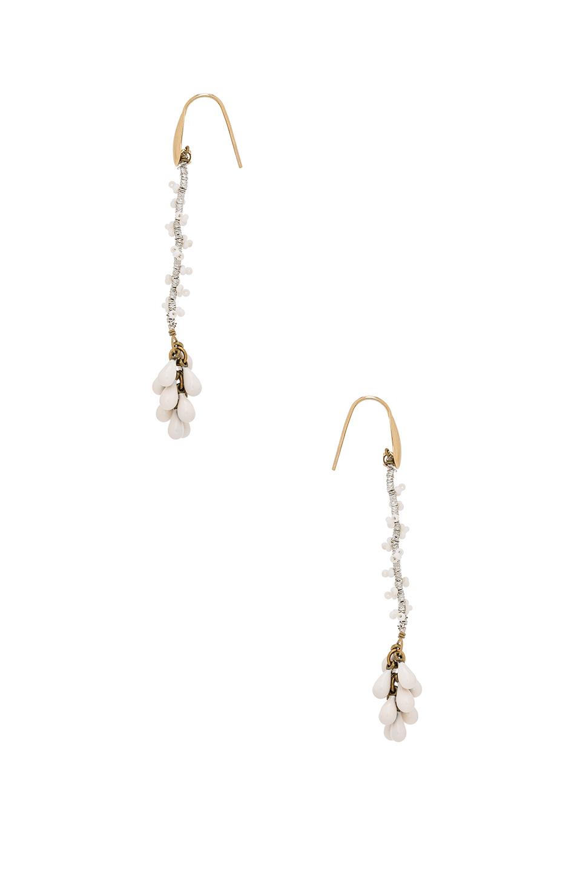 Isabel Marant Tanger Earrings in White,Metallics