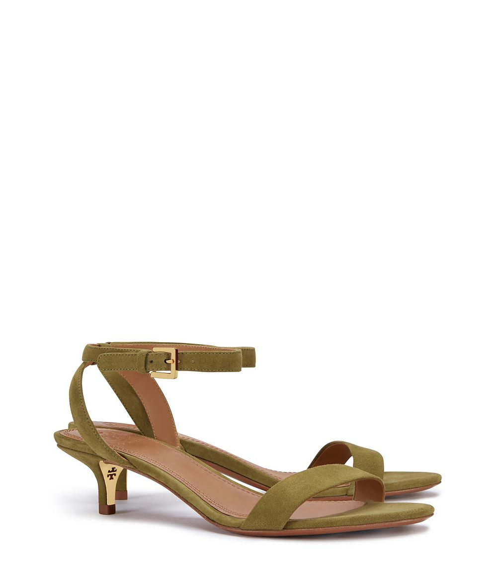 5a66bed8e08 Lyst - Tory Burch Elana Mid-heel Sandal in Green