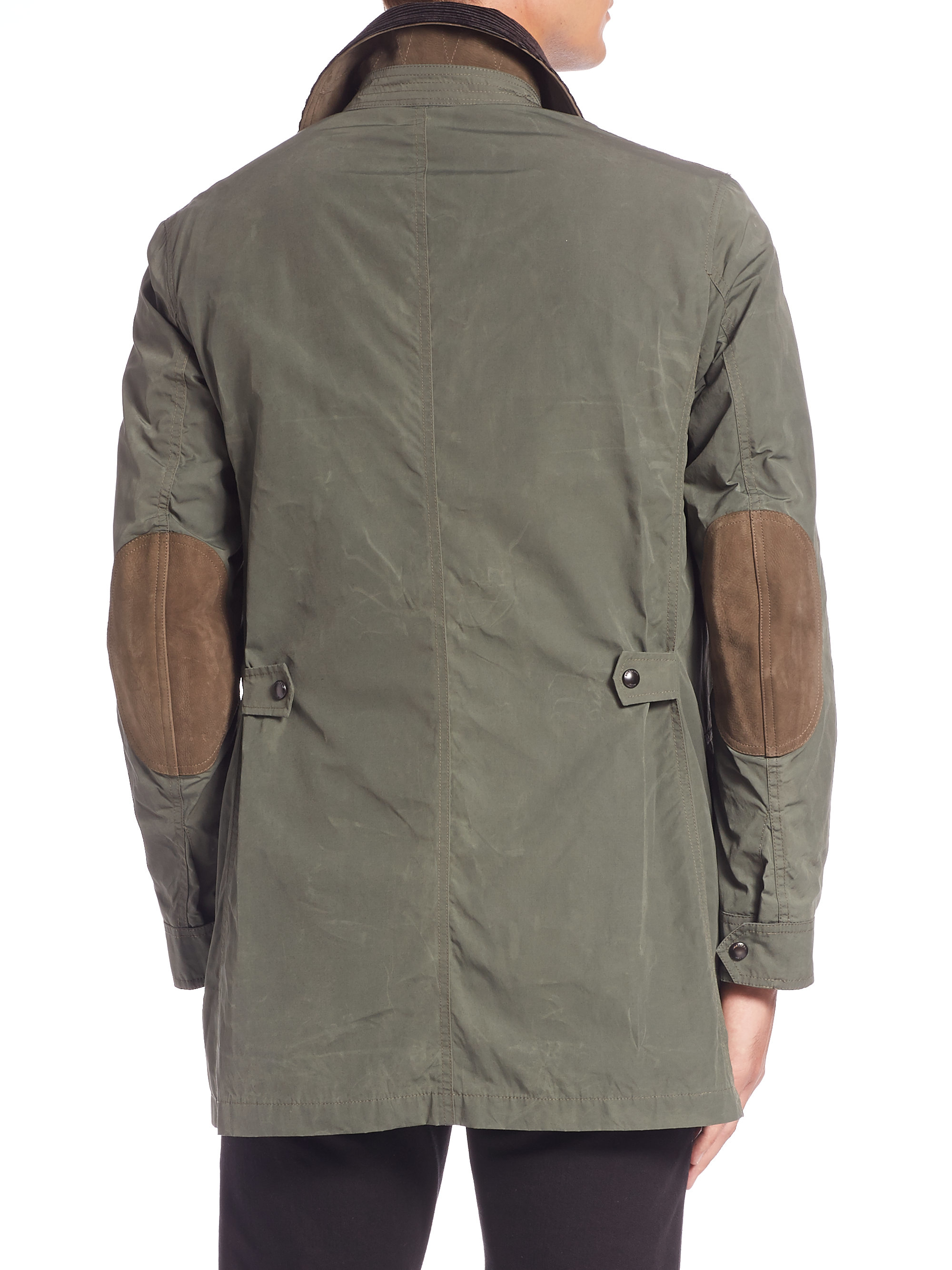 Burberry Brit Bartlett Cotton Blend Jacket In Green For