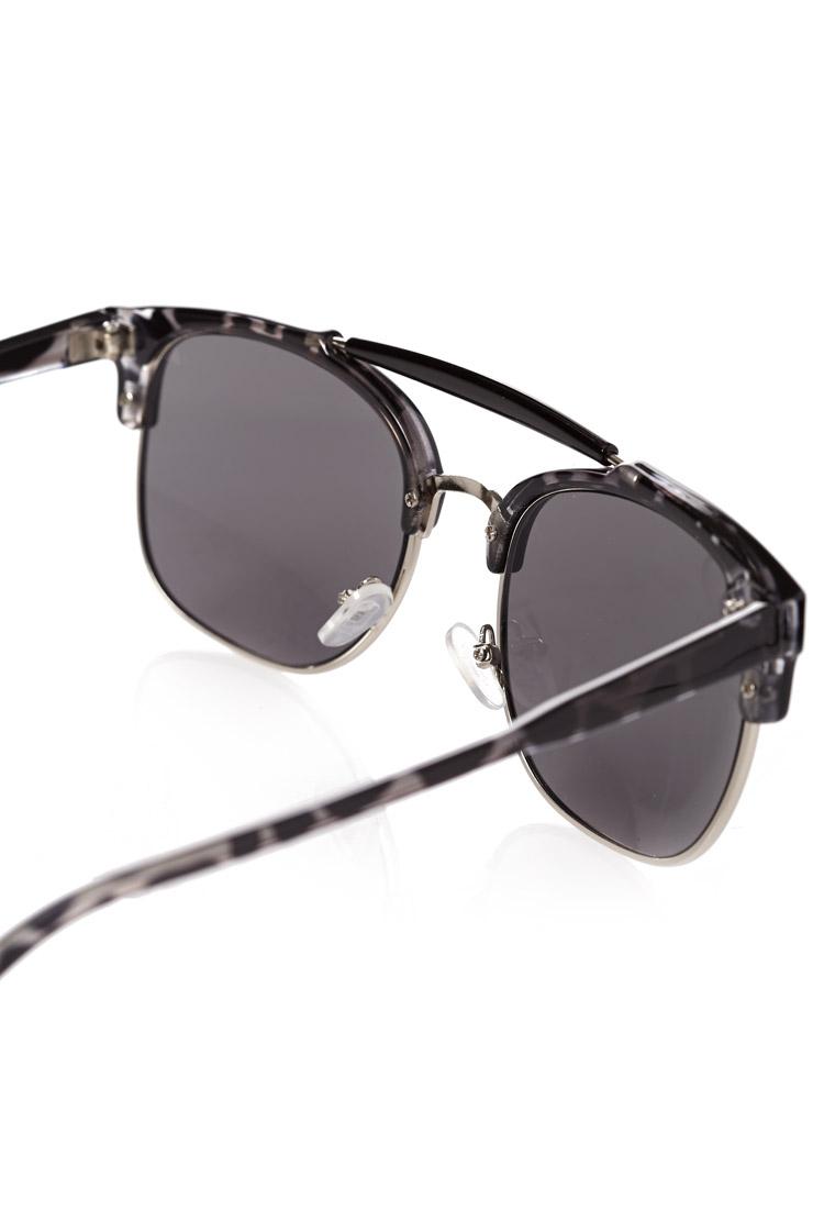 tortoise shell clubmaster  Forever 21 Tortoise Shell Clubmaster Sunglasses in Black for Men ...