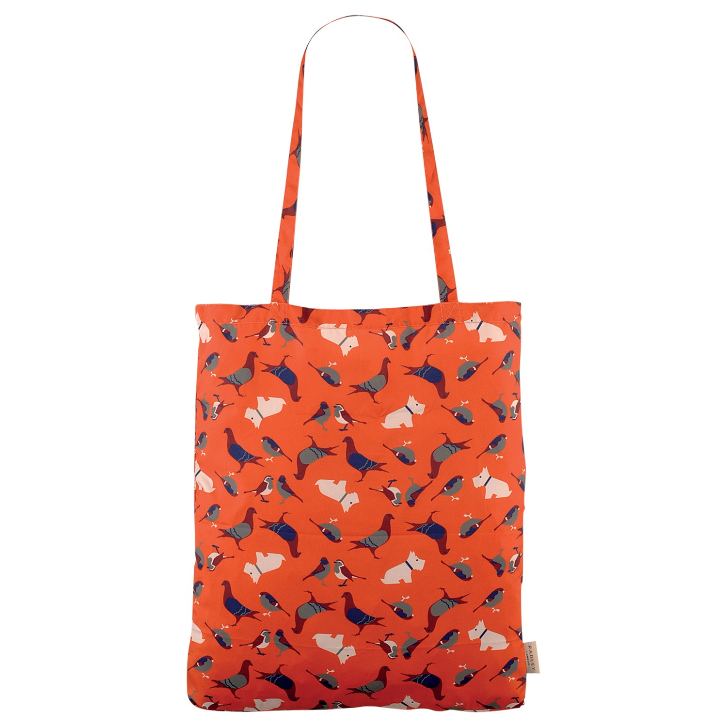 radley a little bird told me foldaway shopper bag in orange lyst gallery