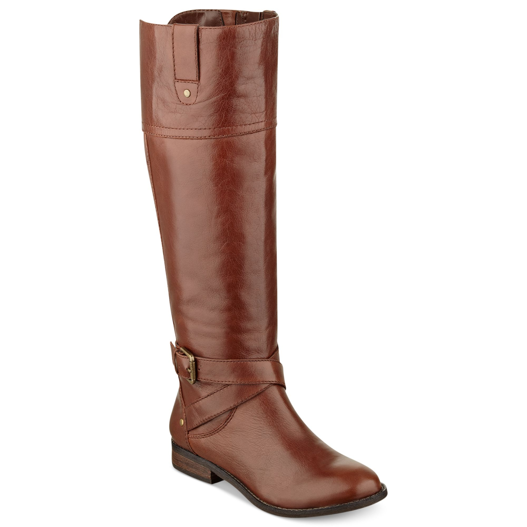 marc fisher aysha wide calf boots in brown