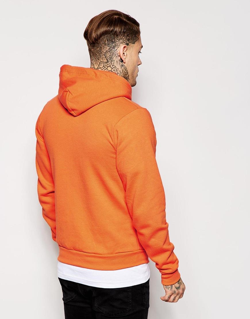 American apparel Flex Fleece Zip Hoodie in Orange for Men | Lyst