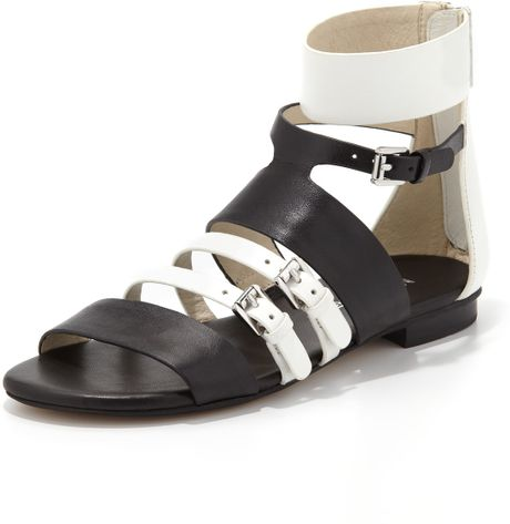 Michael Kors Sandals Black Black White Michael Kors