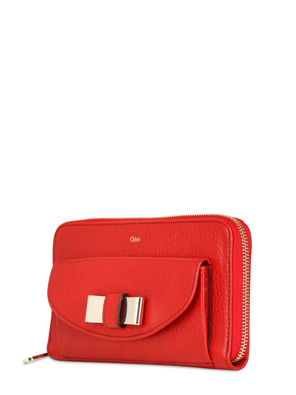 Chlo�� Lily Long Zip Around Wallet in Purple (HOLLY BERRY)   Lyst