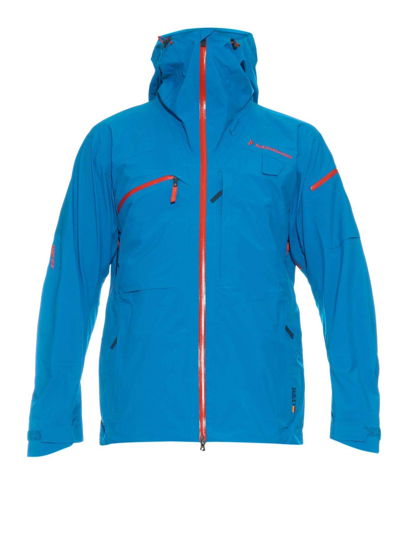 peak performance heli alpine technical ski jacket in blue