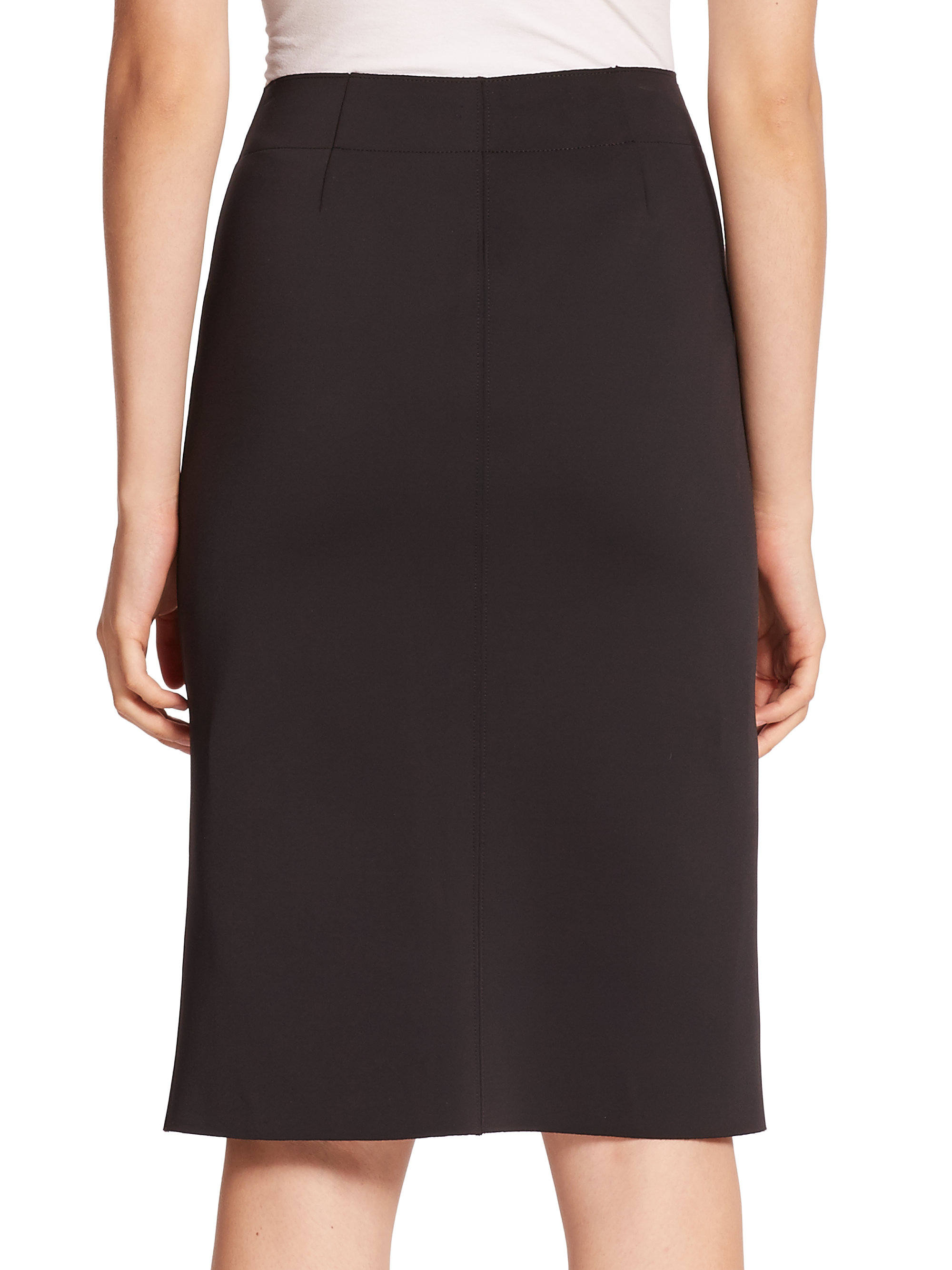 Helmut lang Scuba Pencil Skirt in Black | Lyst
