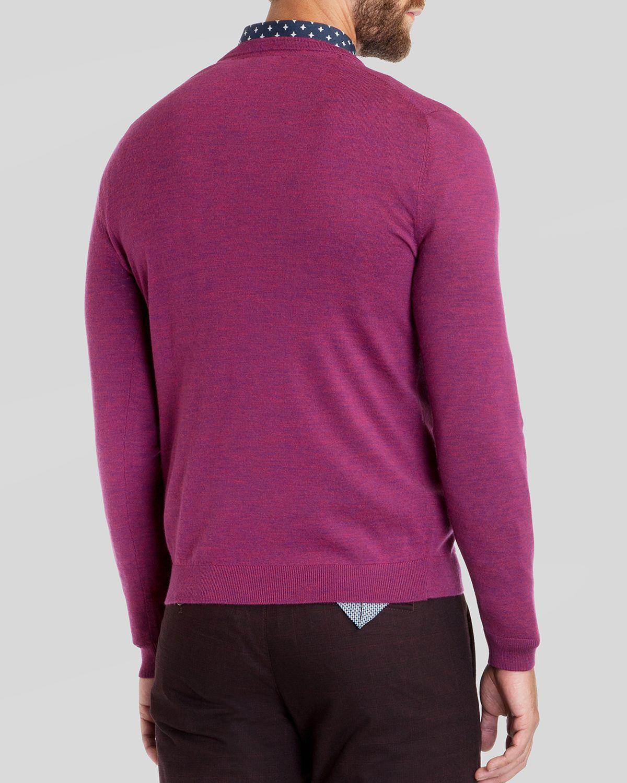 4c7f88d9a385d Lyst - Ted Baker Babel Merino Wool V-neck Sweater in Purple for Men
