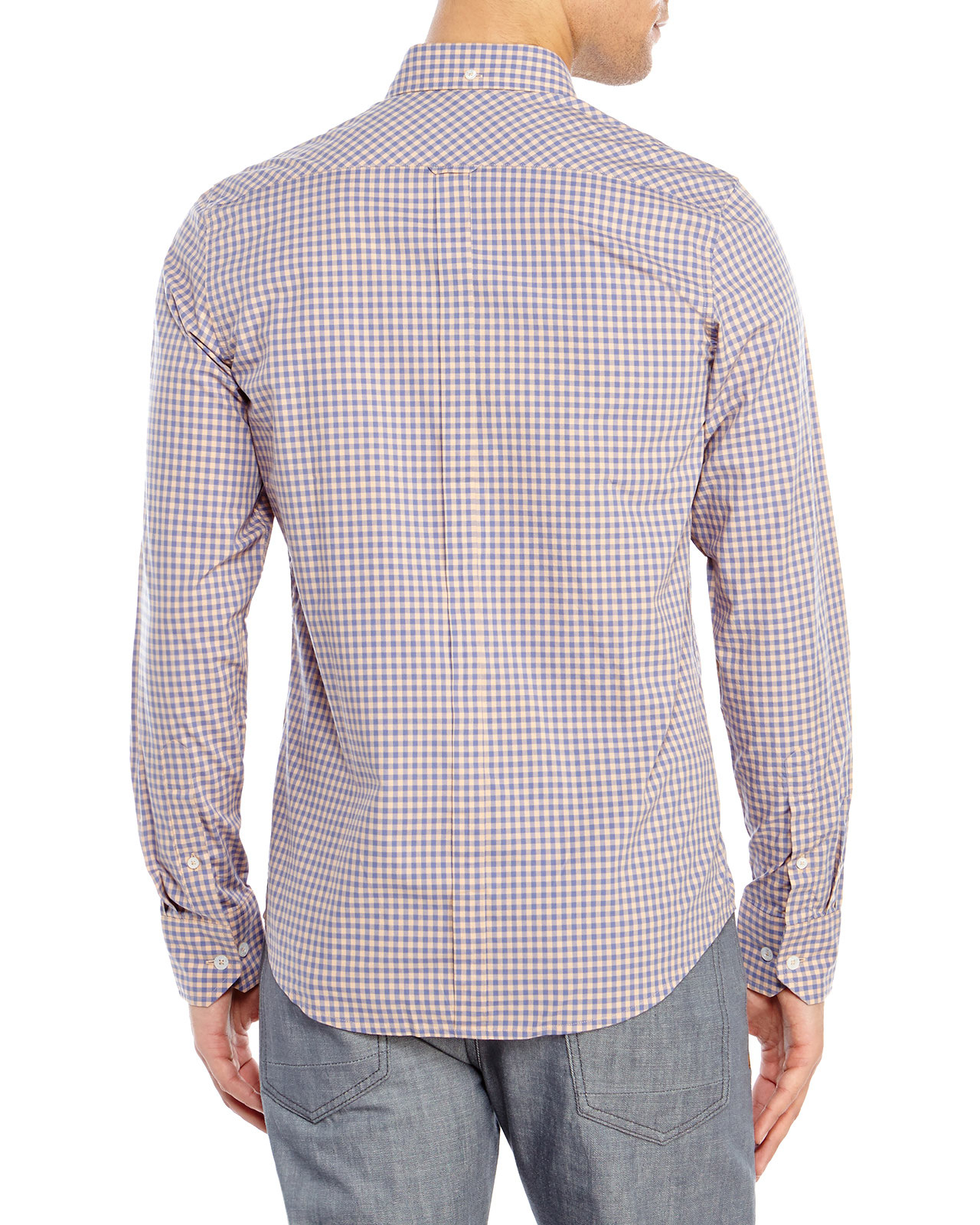 Lyst Ben Sherman Gingham Button Down Shirt In Blue For Men