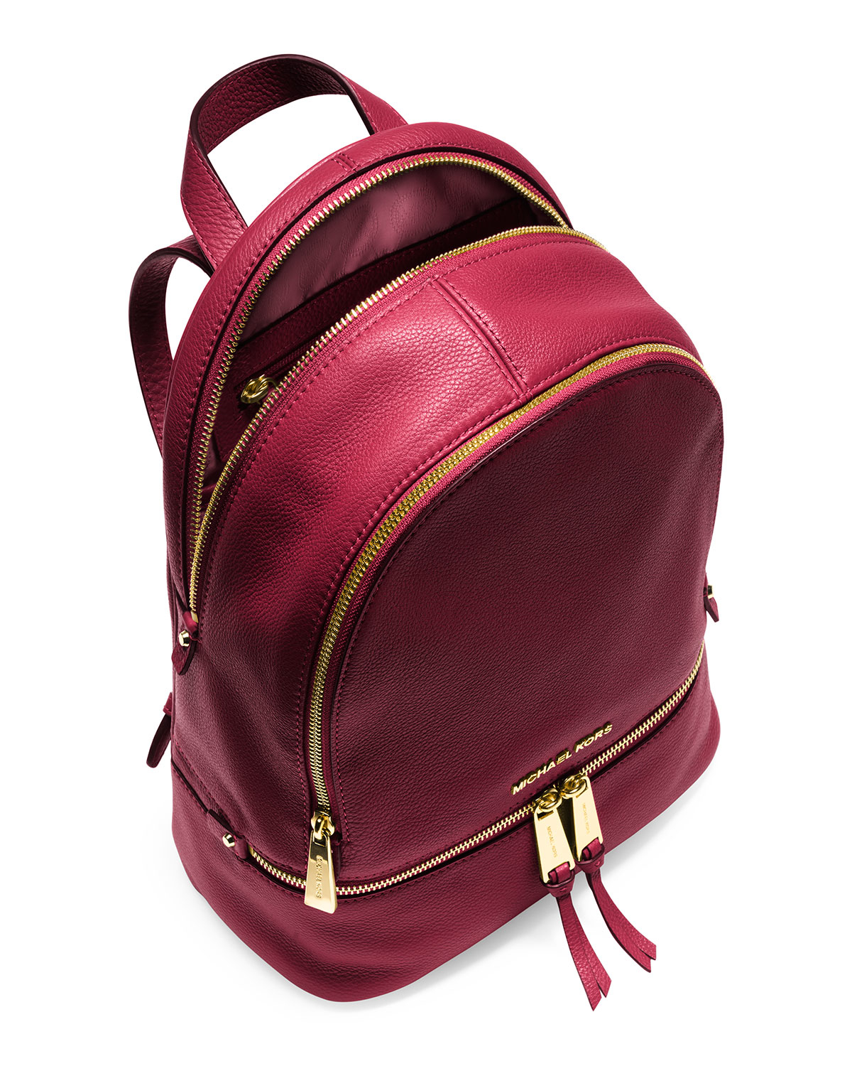 b3b01622a64e MICHAEL Michael Kors Rhea Small Leather Zip Backpack in Red - Lyst
