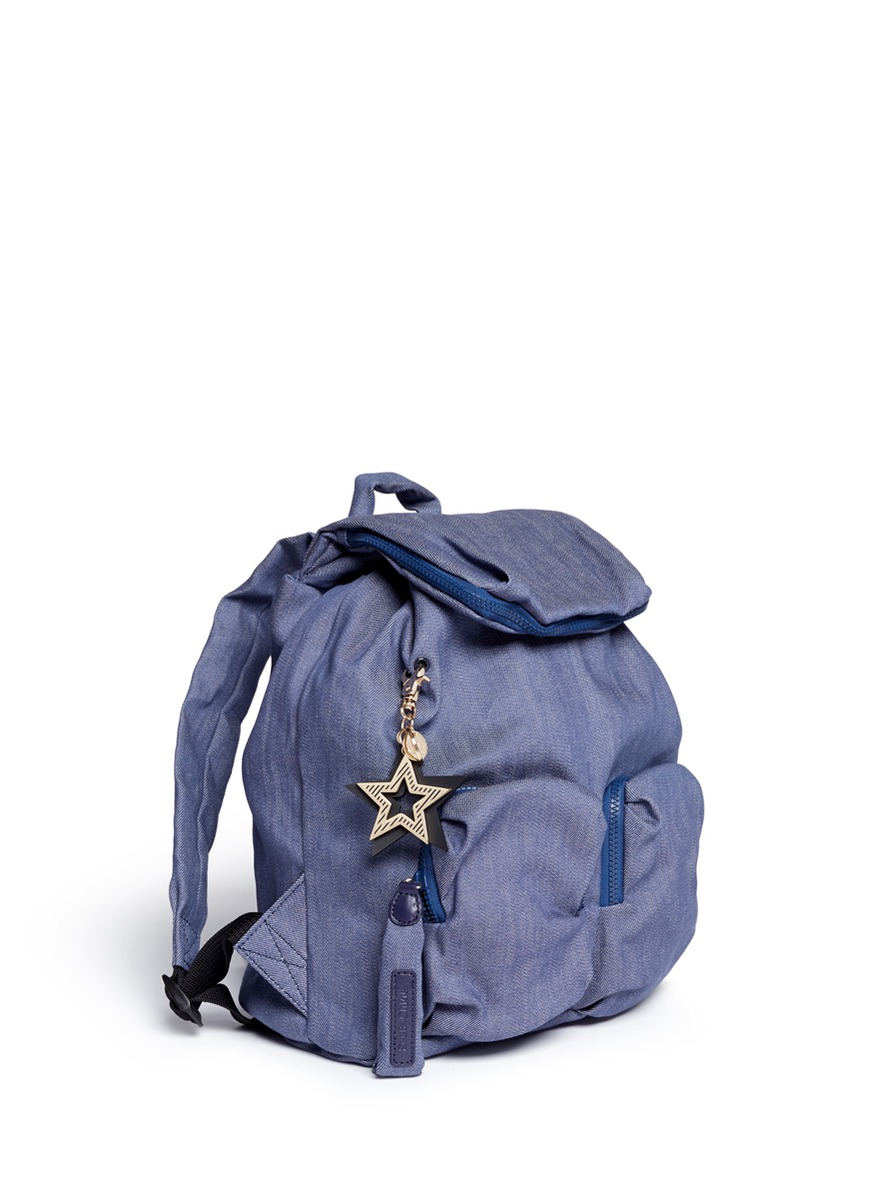 d708a91936bb8 Lyst - See By Chloé  joy Rider  Cotton Denim Backpack in Blue