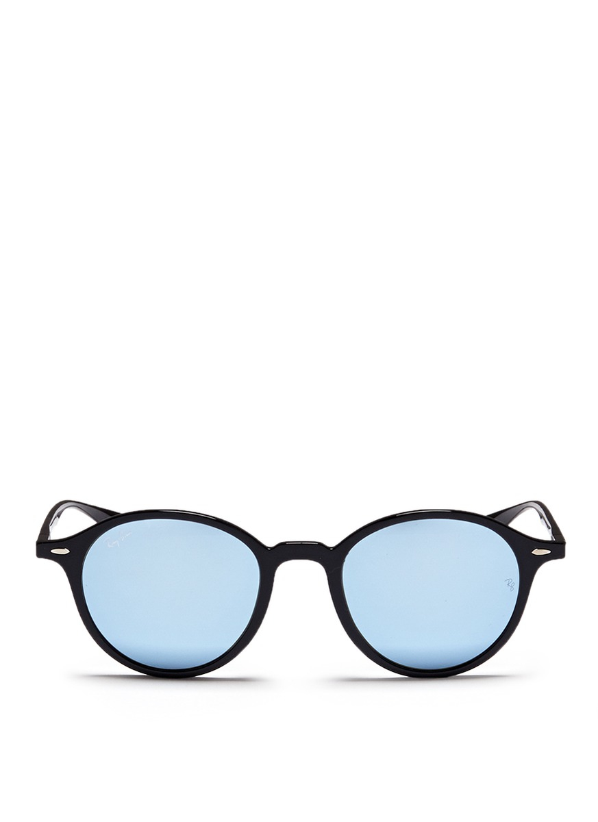 65ff6dc1e3 Lyst - Ray-Ban  rb4237 Liteforce  Thermoplastic Round Mirror ...