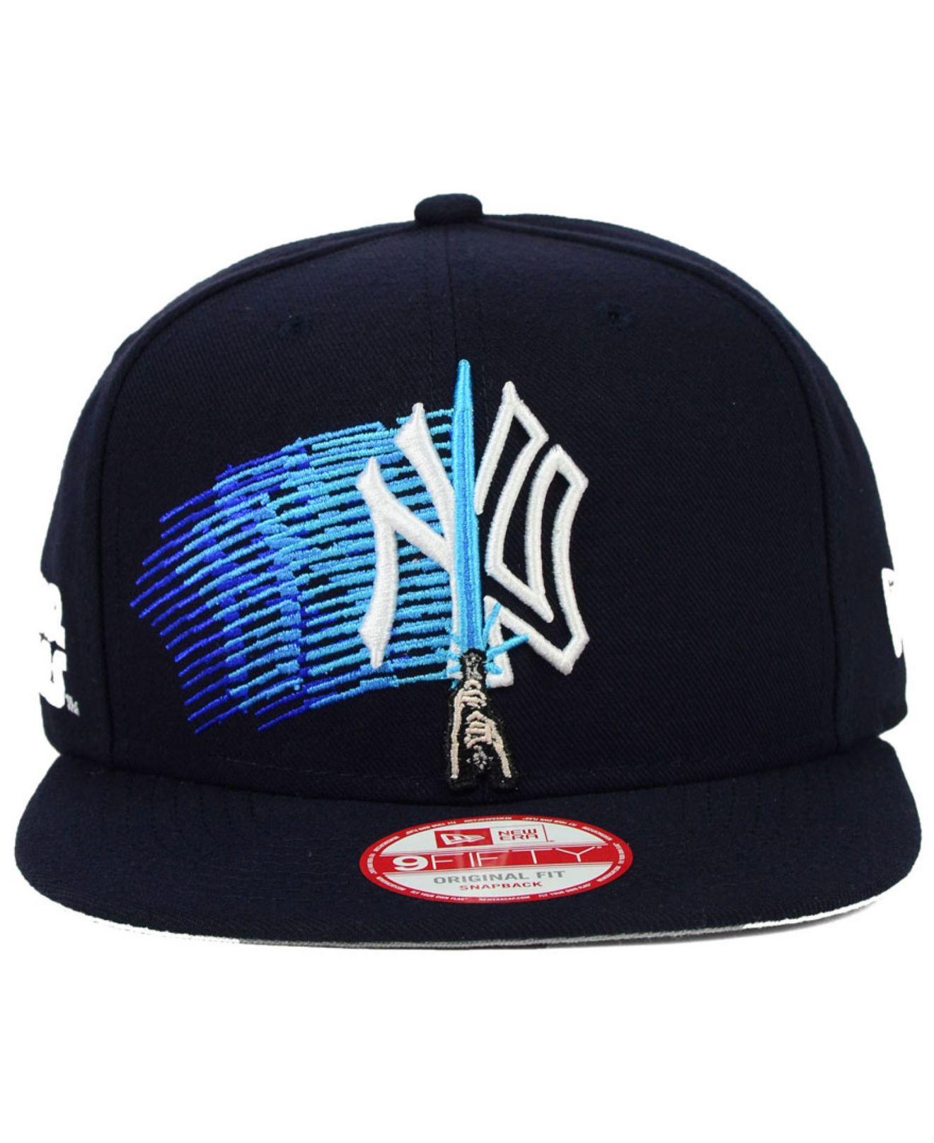 low price lyst ktz new york yankees star wars logoswipe 9fifty snapback cap  in blue for 34b4eeb622b