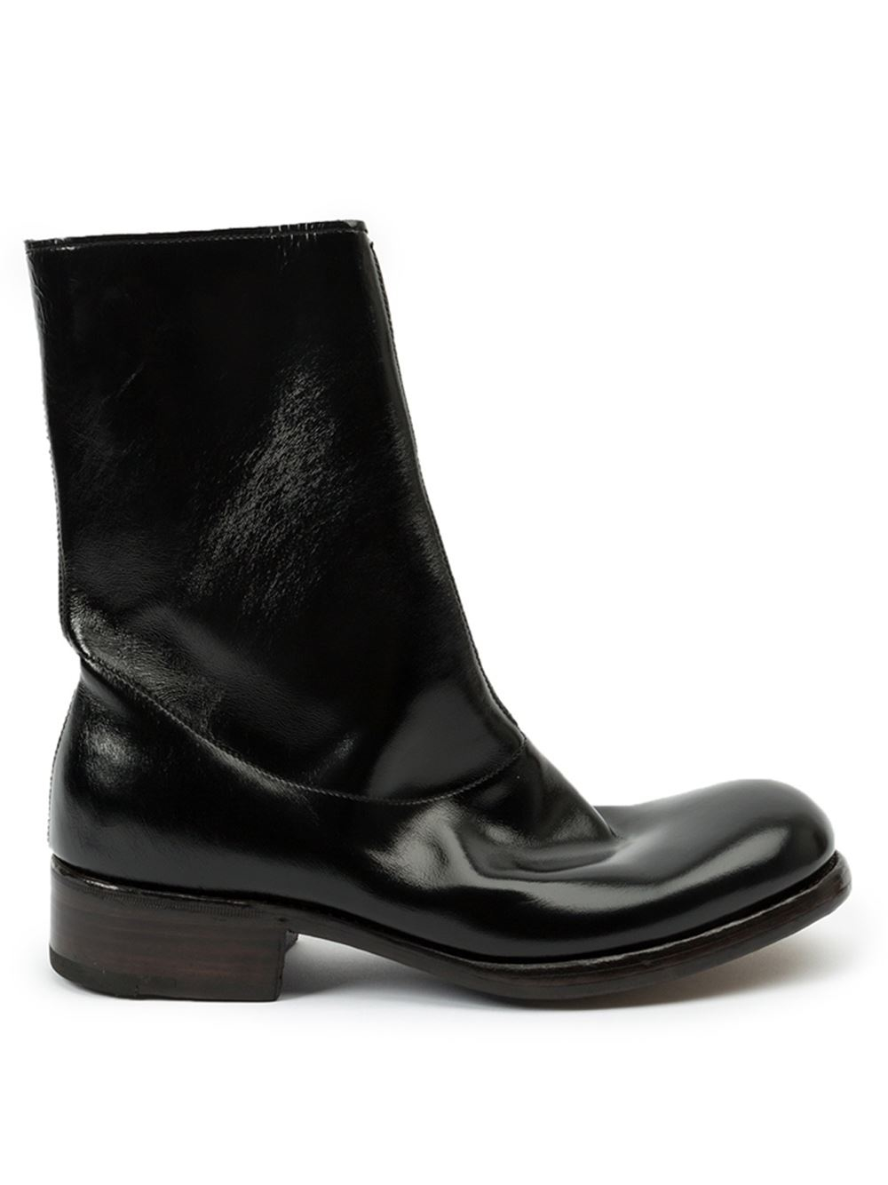 premiata zip boots in black for lyst