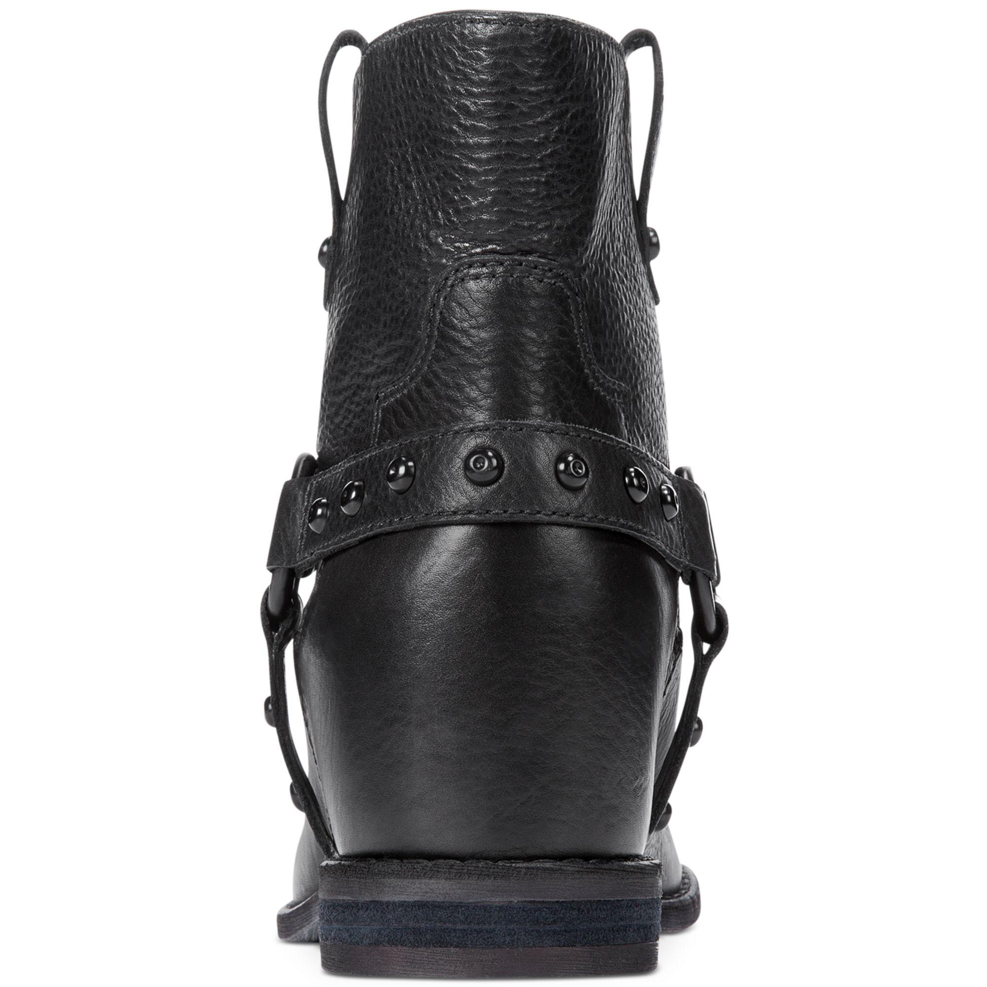 Enzo angiolini Rokira Hidden Wedge Booties in Black (Black ...