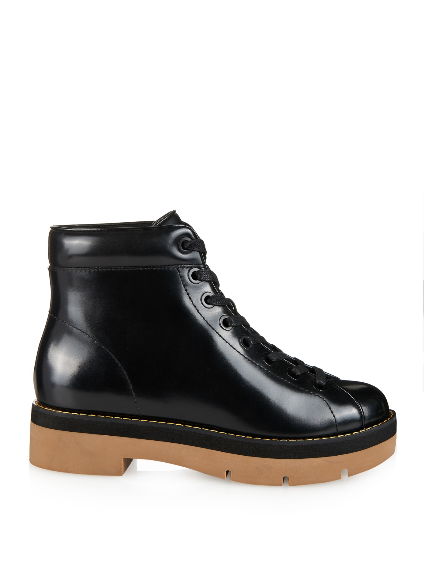 Lyst Boots Lace Leather Alexander in Ankle Black Genevieve Up Wang Sgr4xS