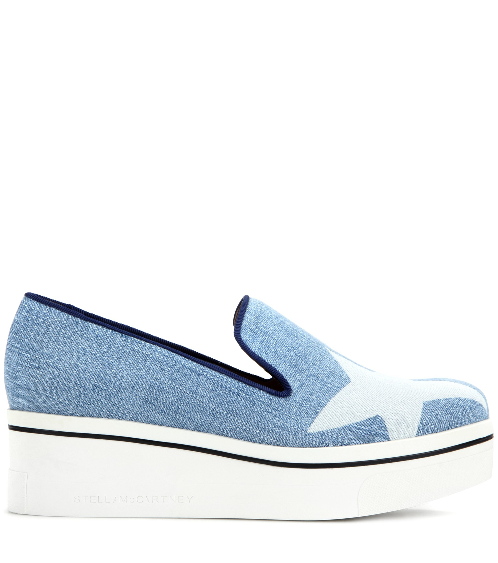 Stella McCartney Binx Stars Denim Loafer Platform Sneakers LPPutErS