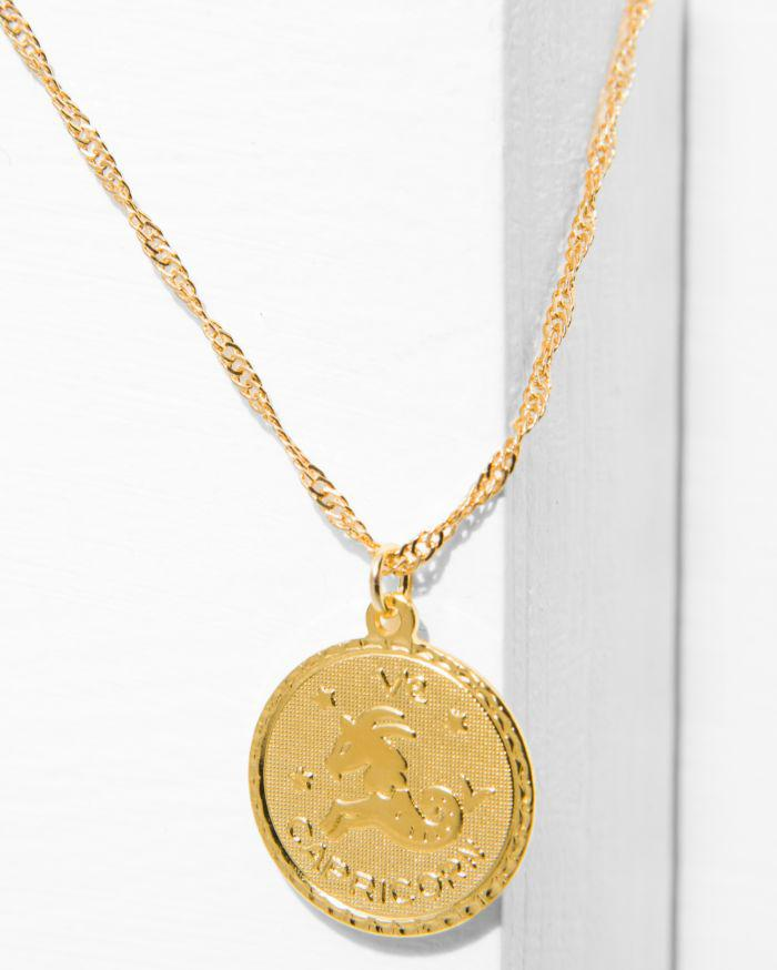 7 For All Mankind Cam Capricorn Necklace In Gold aXyOm4qsBb