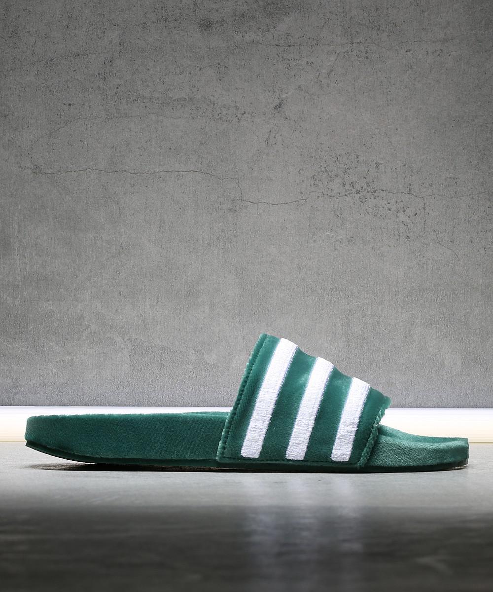 68fd1c2c87ade Adidas Adilette Slide in Green for Men - Lyst
