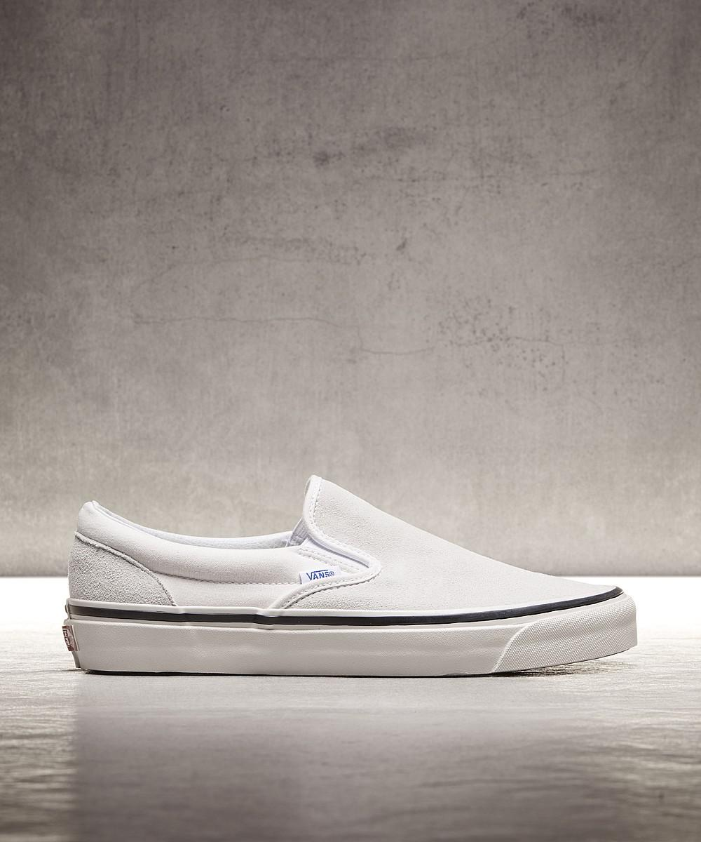 a0c000e880 Lyst - Vans Anaheim Classic Slip On 98 Dx Suede Trainer in White for Men