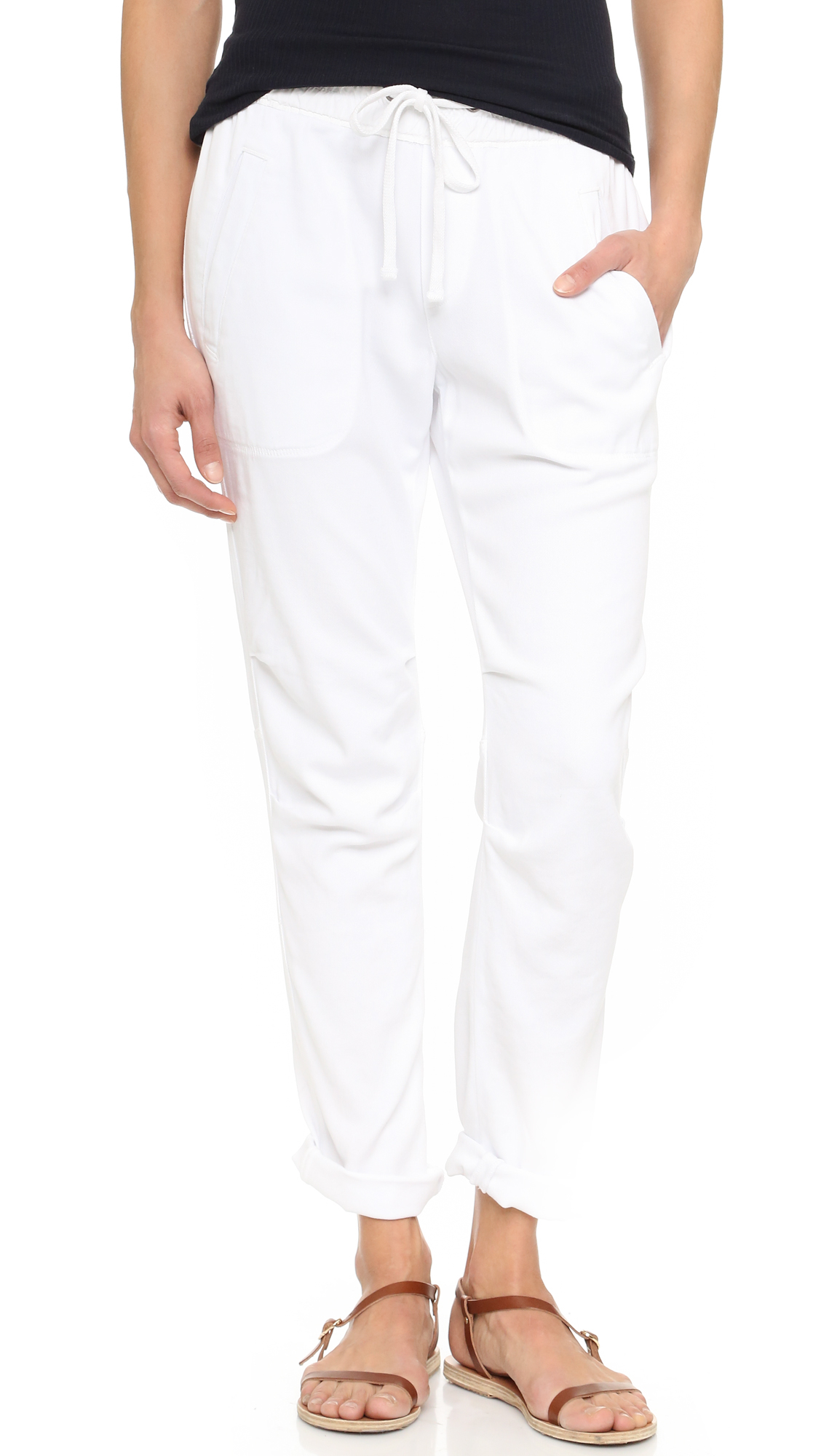James perse Super Soft Twill Pants in White | Lyst