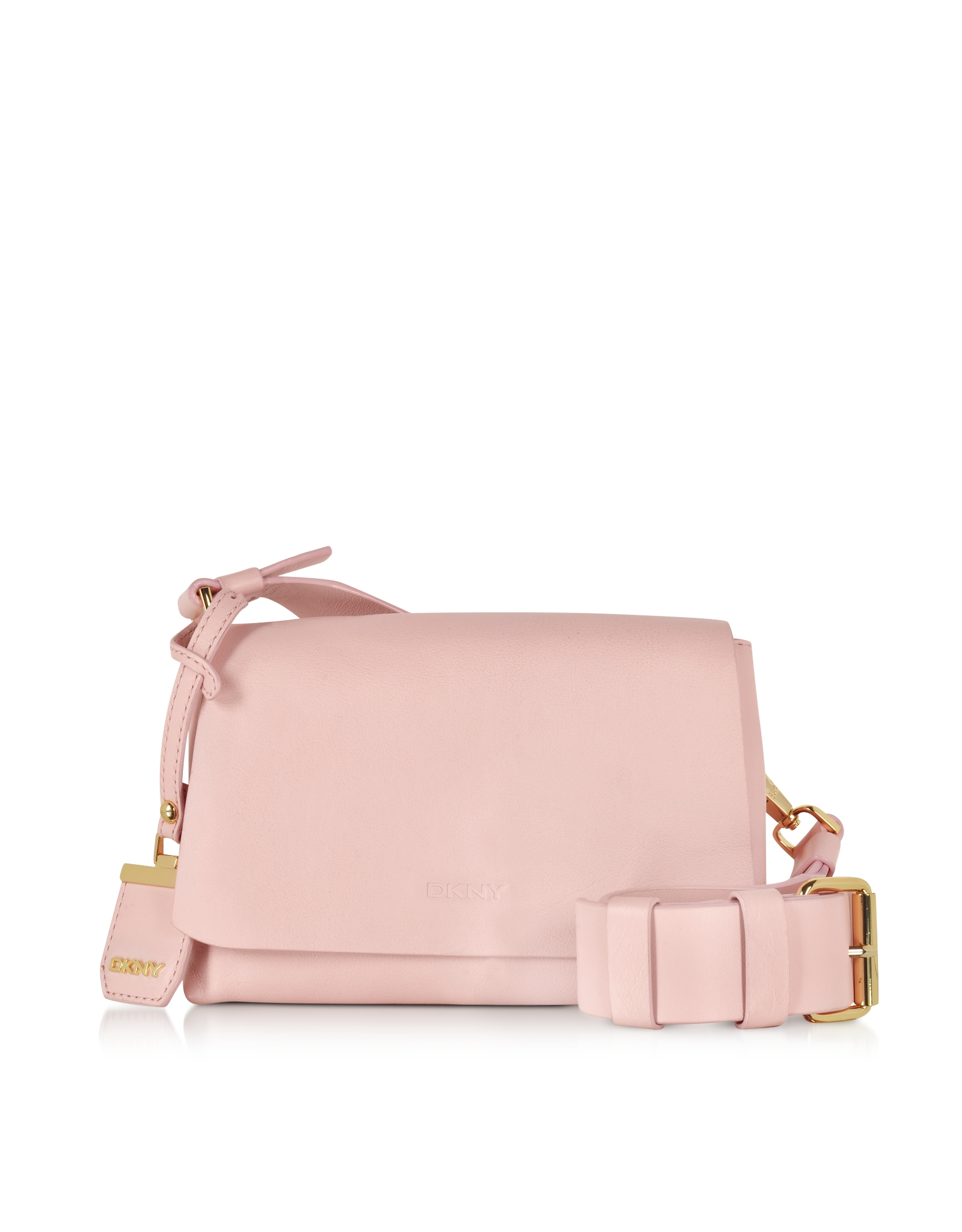 Dkny Heavy Nappa Flap Crossbody in Pink | Lyst