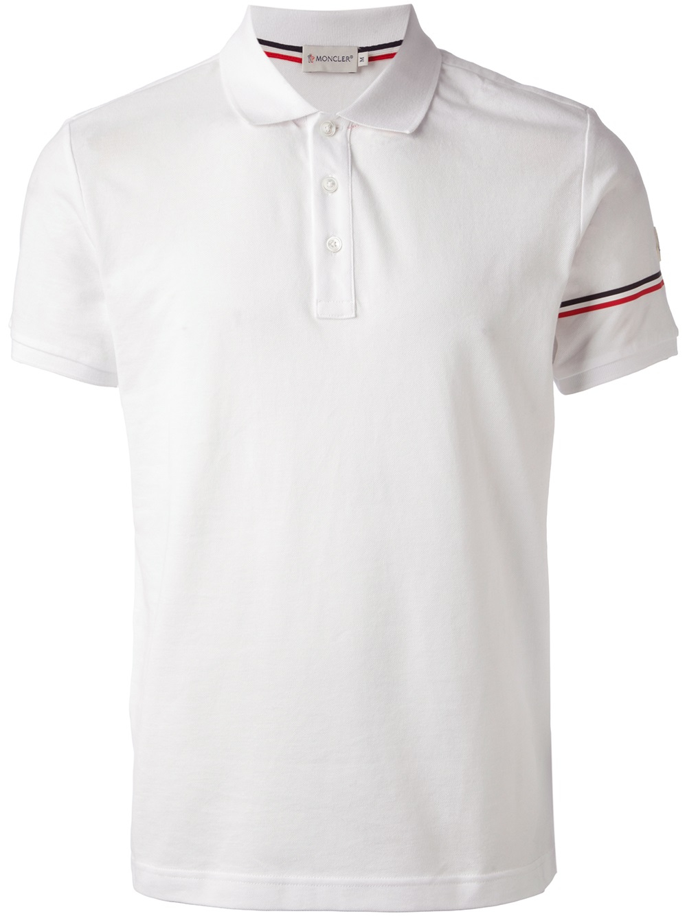 moncler polo shirt in white for men lyst. Black Bedroom Furniture Sets. Home Design Ideas