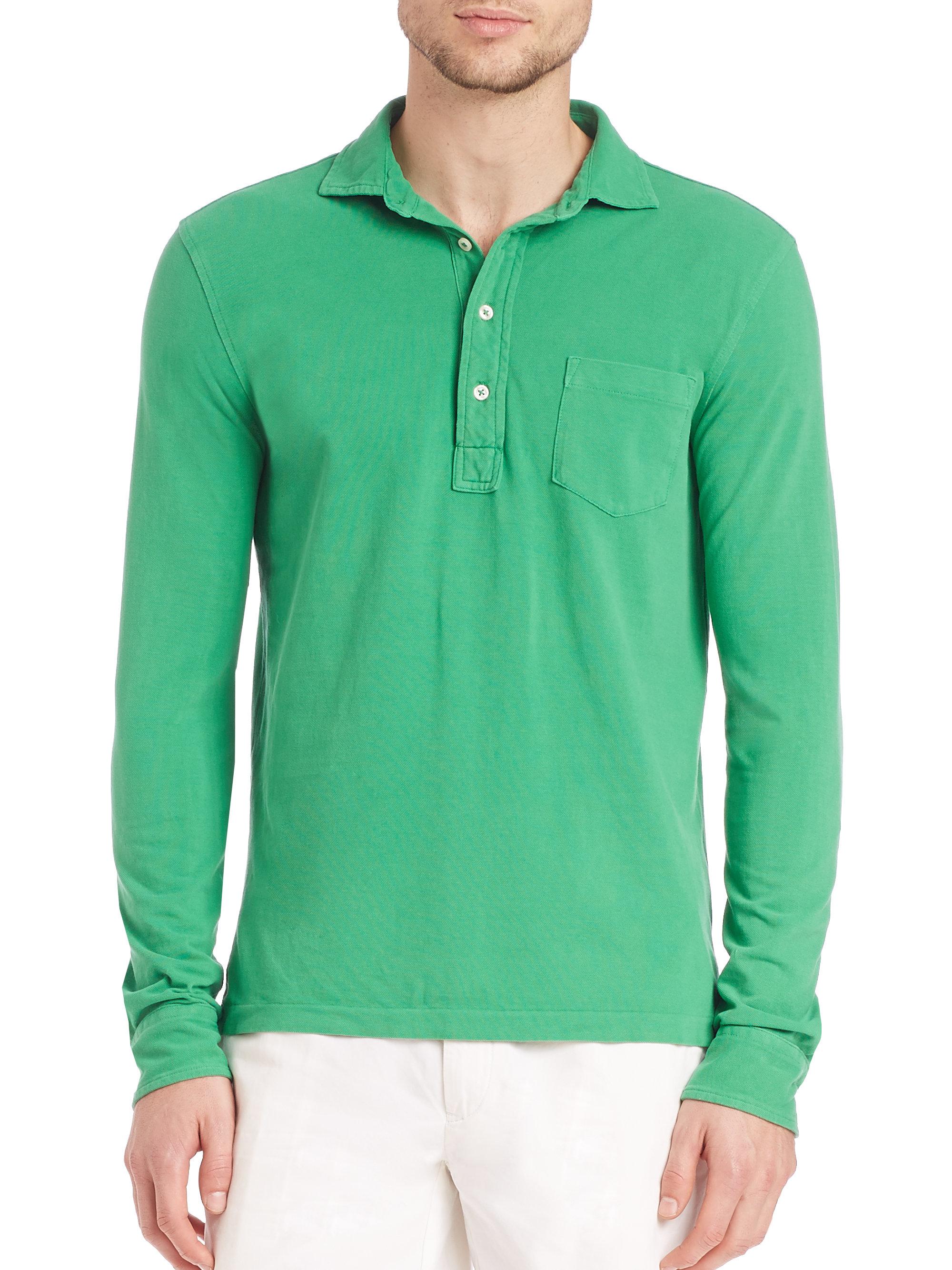 5f9fcc87a Polo Ralph Lauren Featherweight Mesh Estate Shirt in Green for Men ...