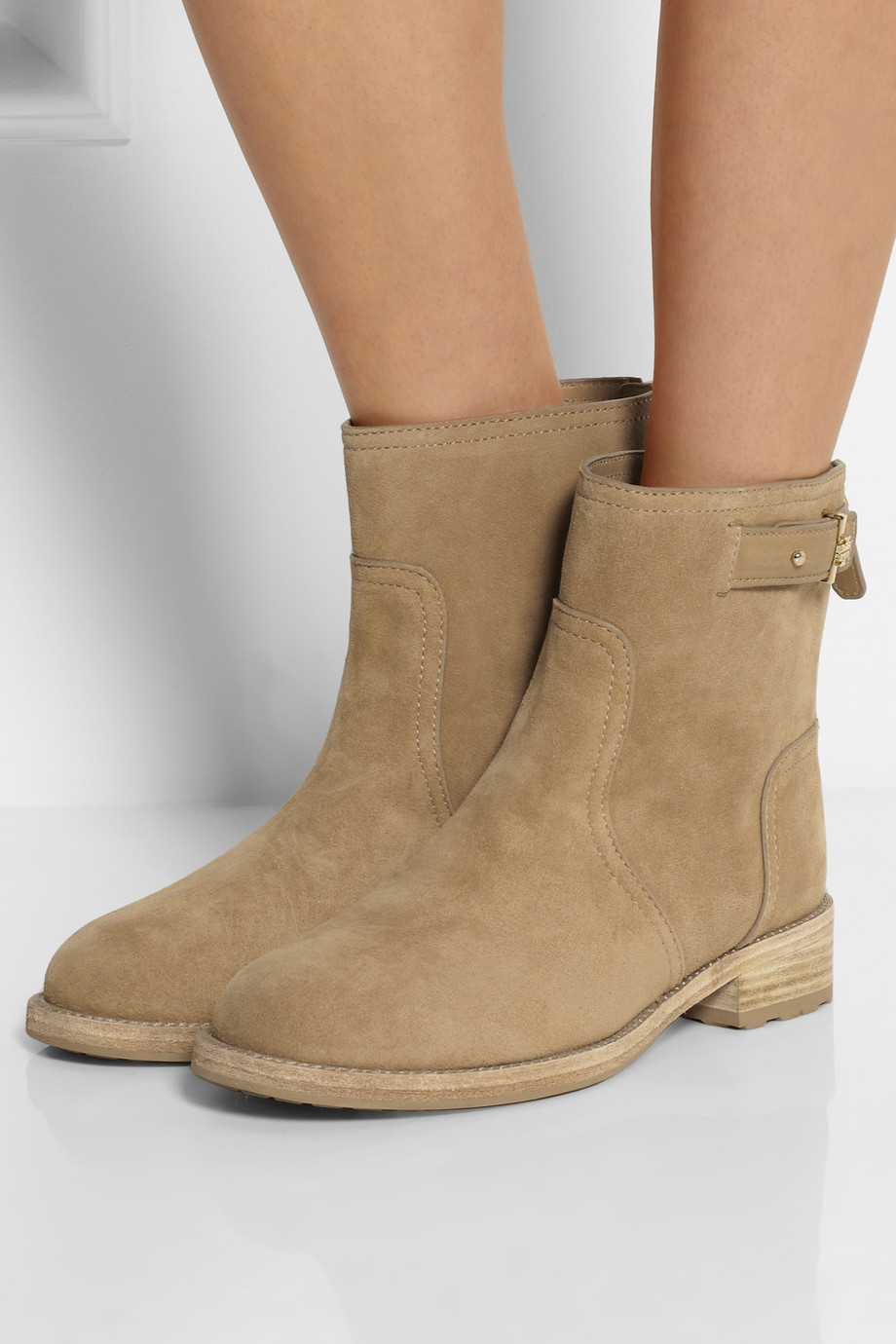 41ed95a65a2 Lyst - Tory Burch Selena Suede Ankle Boots in Brown