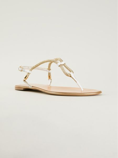 Casadei Flat Sandals i...