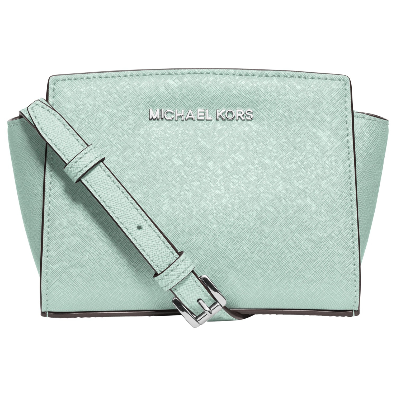 aa5146fc7f1f ... low cost michael michael kors selma mini leather messenger bag in gre  d8e05 b1822 ...